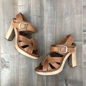 Chloe high heel buckle sandals